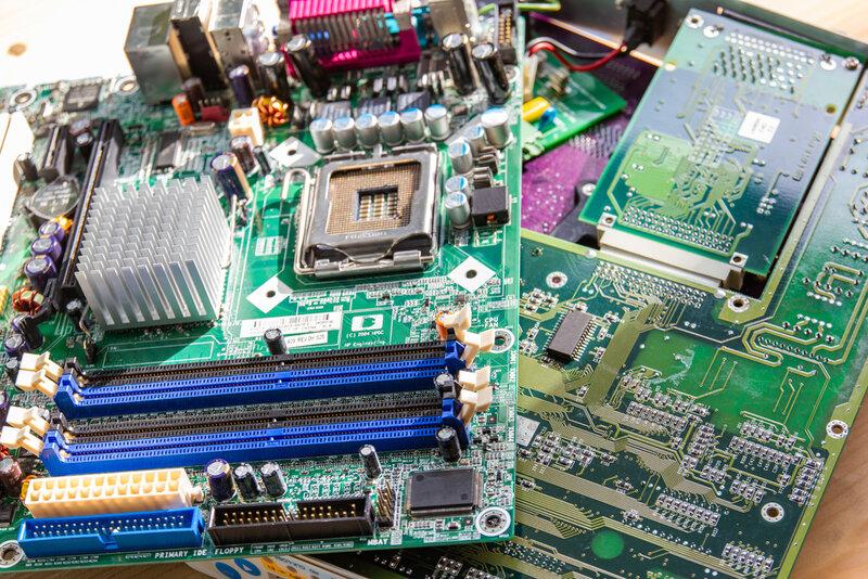 Elektronikskrot innehåller guld